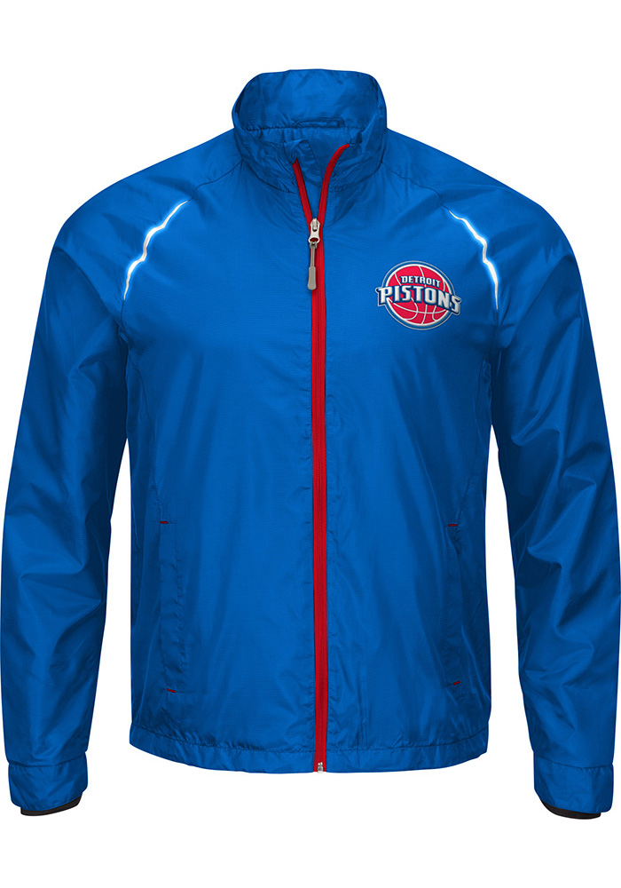 Detroit Pistons Mens Red Big and Tall Light Weight Jacket - Image 1
