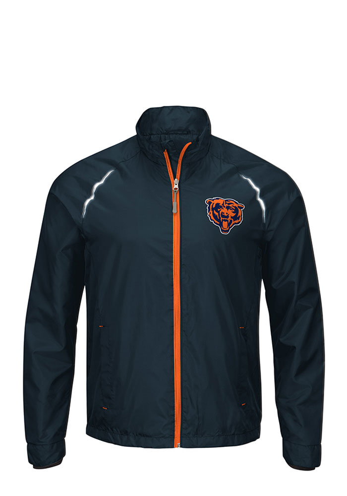 Chicago Bears Mens Navy Blue Big and Tall Light Weight Jacket - Image 1