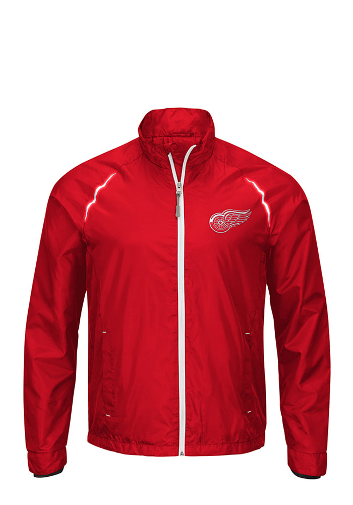 Detroit Red Wings Mens Red Interval Big and Tall Light Weight Jacket - Image 1