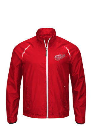 Detroit Mens Red Interval Light Weight Jacket