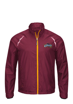Cleveland Cavaliers Mens Cardinal Interval Light Weight Jacket