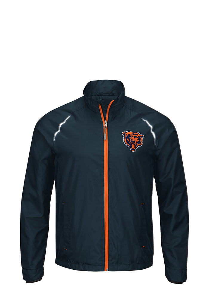 Chicago Bears Mens Navy Blue Interval Light Weight Jacket - Image 1