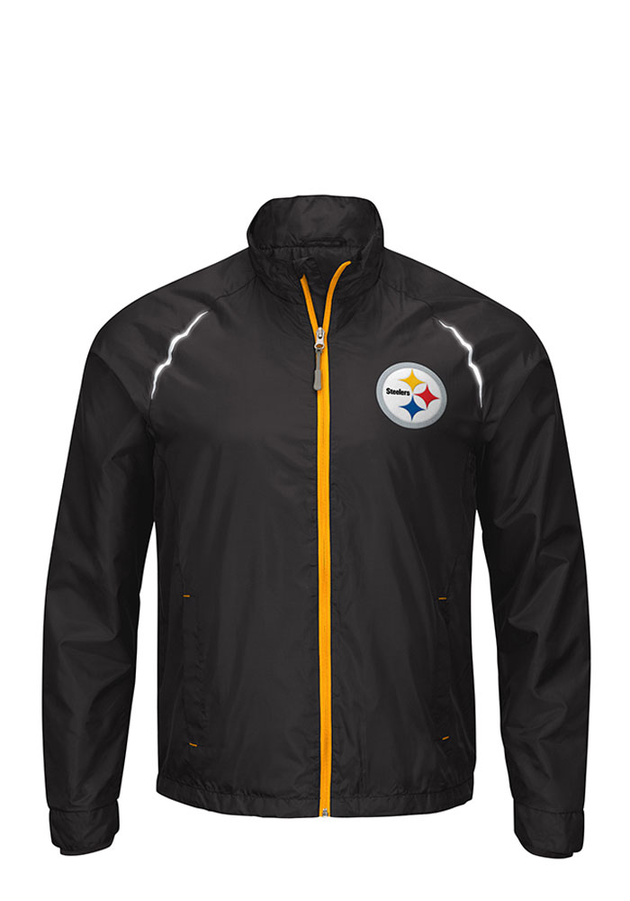 Pittsburgh Steelers Mens Black Interval Light Weight Jacket - Image 1