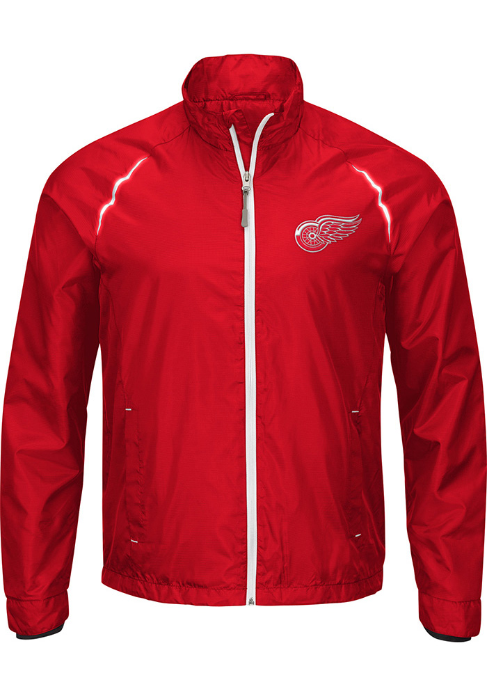 Detroit Red Wings Mens Red Interval Light Weight Jacket - Image 1