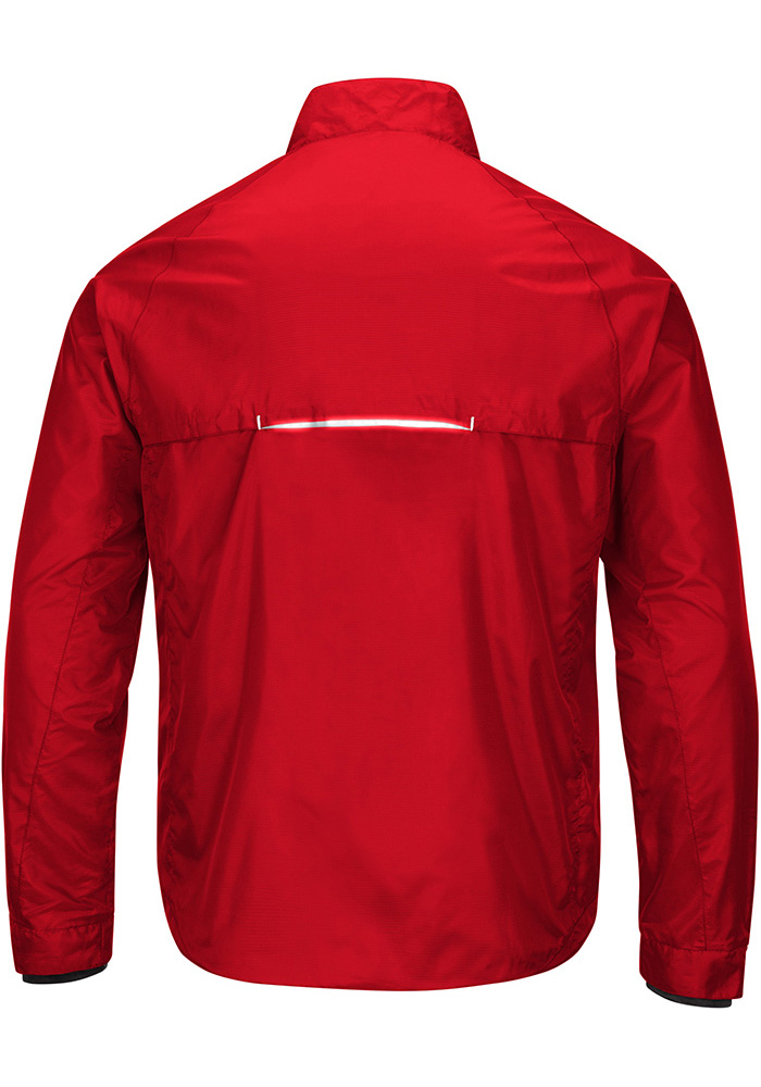 Detroit Red Wings Mens Red Interval Light Weight Jacket - Image 2
