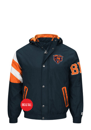 Chicago Bears Mens Navy Blue Knockout Lined Jacket