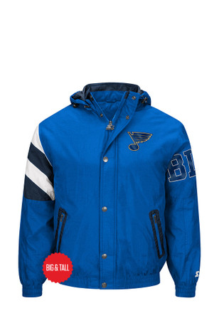 STL Blues Mens Blue Knockout Light Weight Jacket