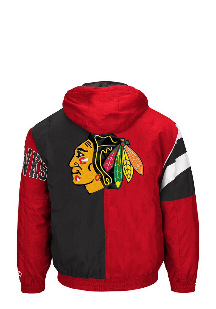 8a0581444 Chicago Blackhawks Mens Red Polyfilled Heavyweight Jacket - 9433181