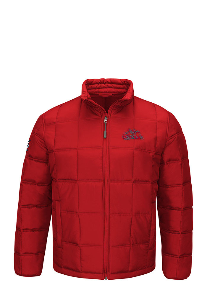 St Louis Cardinals Mens Red Polyfilled Heavyweight Jacket - Image 1