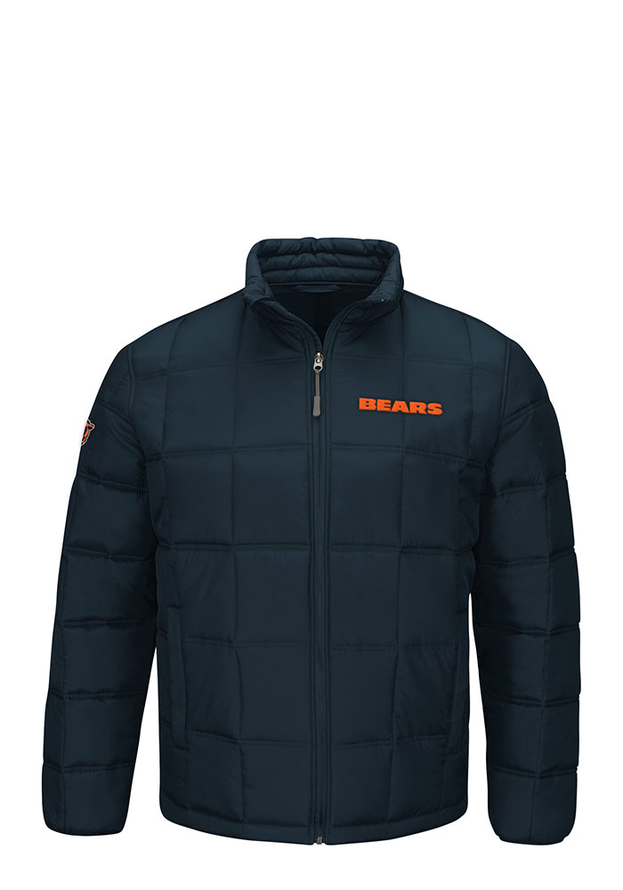 Chicago Bears Mens Navy Blue Polyfilled Heavyweight Jacket - Image 1