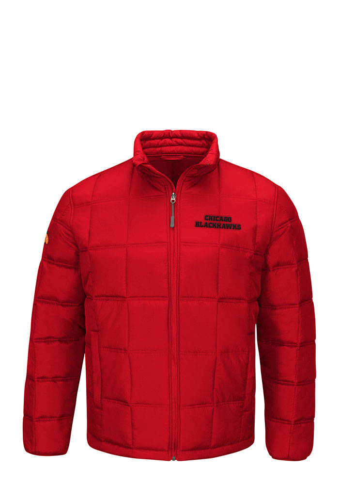 Chicago Blackhawks Mens Red Polyfilled Heavyweight Jacket - Image 1