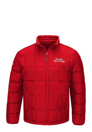 Detroit Mens Red Polyfilled Heavyweight Jacket