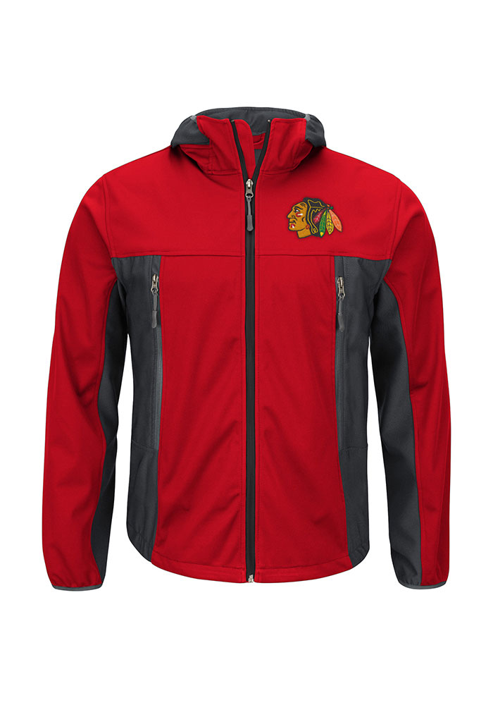Chicago Blackhawks Mens Red Repetition Big and Tall Light Weight Jacket - Image 1