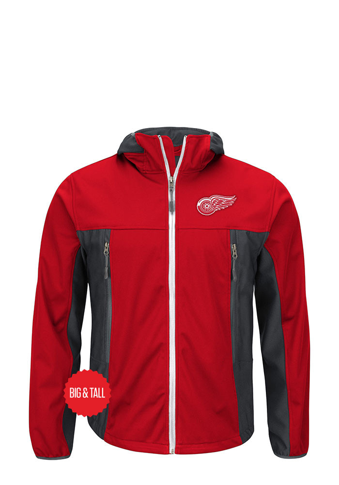 Detroit Red Wings Mens Red Repetition Big and Tall Light Weight Jacket - Image 1