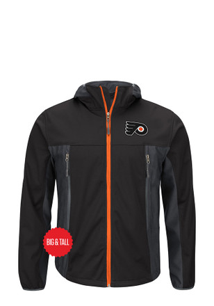 Philadelphia Mens Black Repetition Light Weight Jacket