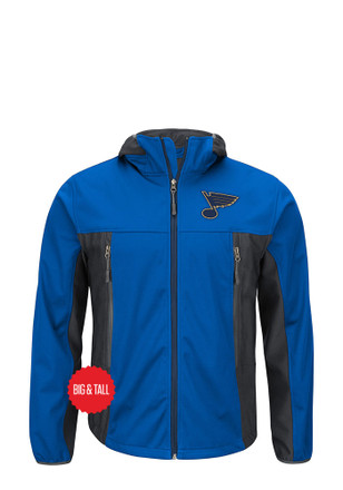 STL Blues Mens Blue Repetition Light Weight Jacket