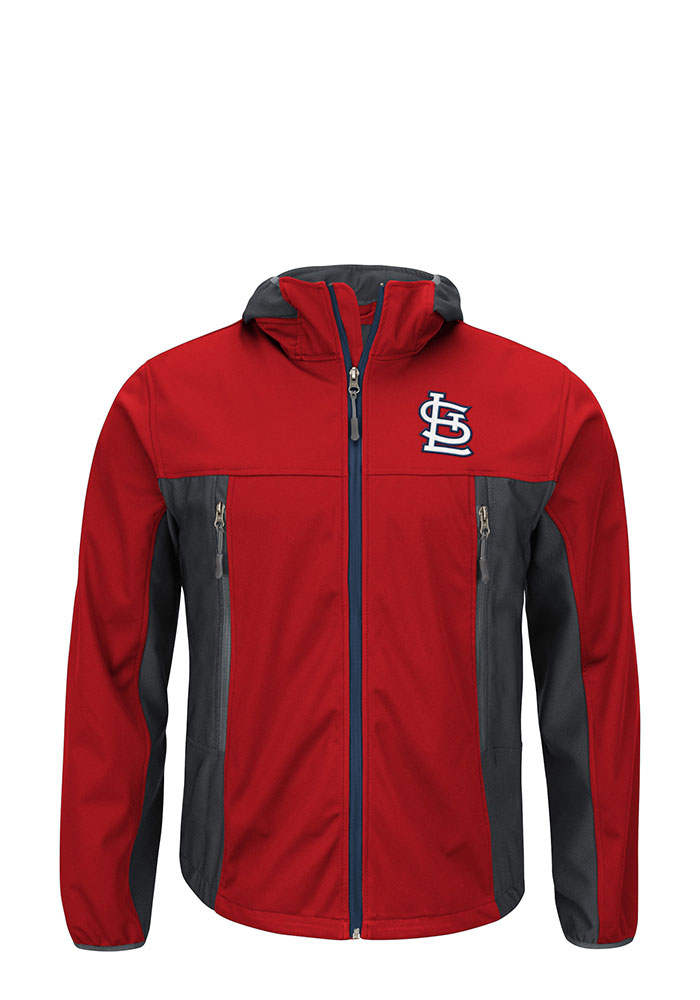 St Louis Cardinals Mens Red Repetition Light Weight Jacket - Image 1