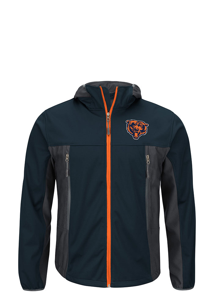 Chicago Bears Mens Navy Blue Repetition Light Weight Jacket - Image 1