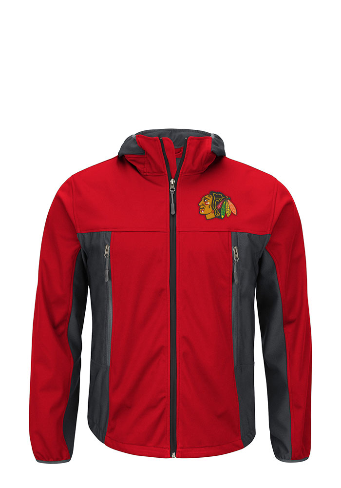 Chicago Blackhawks Mens Red Repetition Light Weight Jacket - Image 1