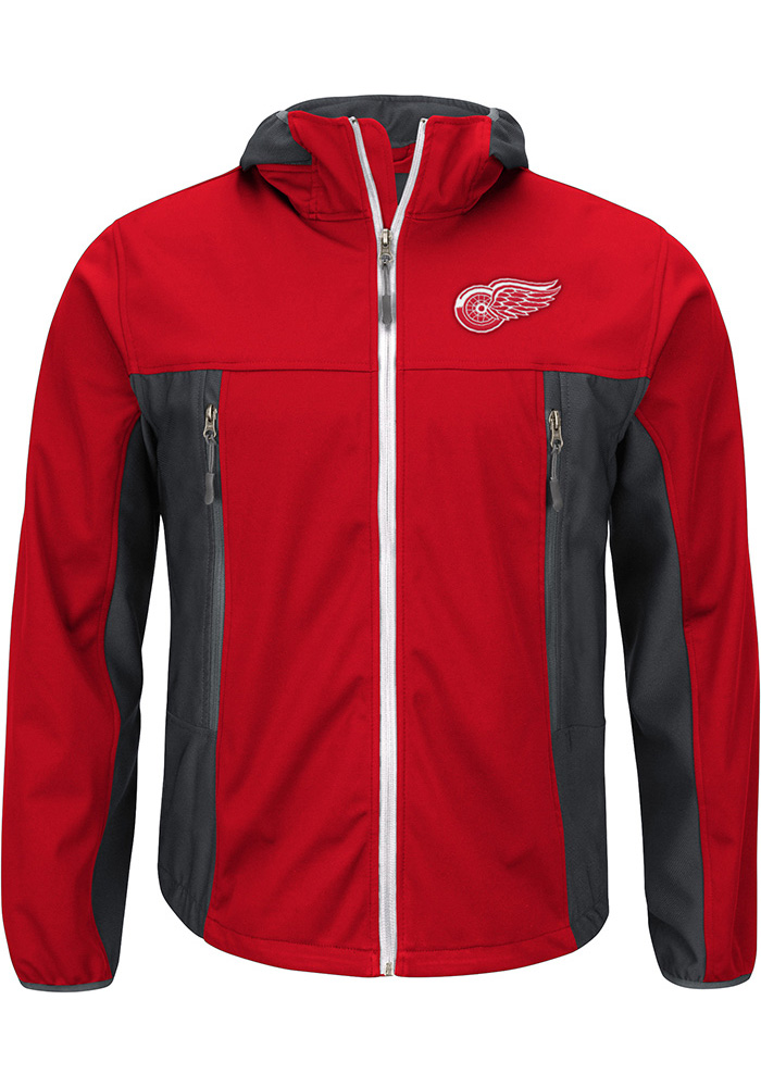 Detroit Red Wings Mens Red Repetition Light Weight Jacket - Image 1