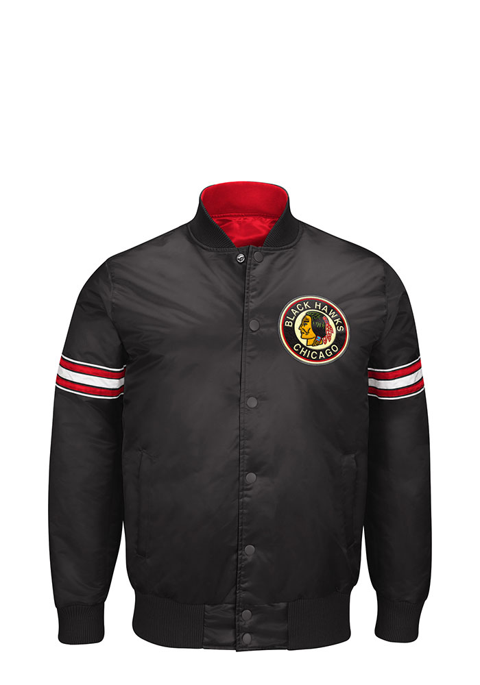 Chicago Blackhawks Mens Black Reigning Champ Light Weight Jacket - Image 1