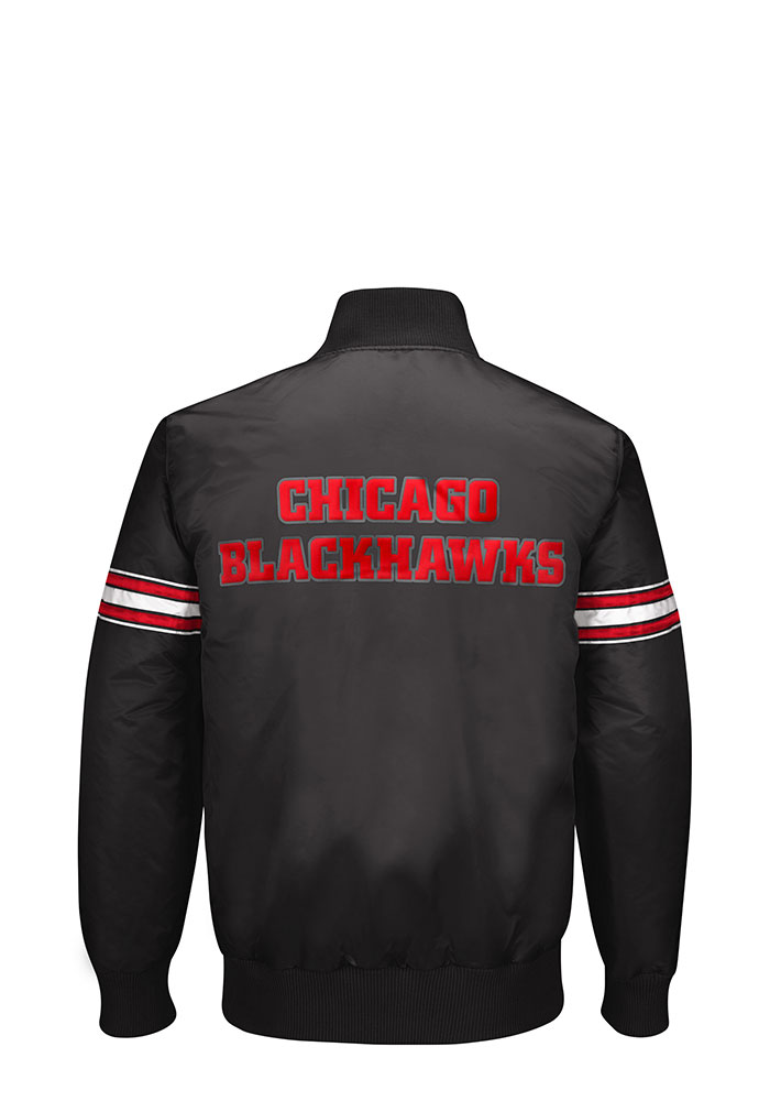 Chicago Blackhawks Mens Black Reigning Champ Light Weight Jacket - Image 2