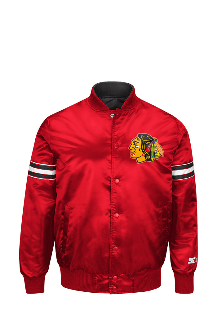 Chicago Blackhawks Mens Black Reigning Champ Light Weight Jacket - Image 3