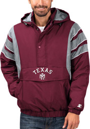 Starter Texas A&M Aggies Mens Maroon Color Blocked Light Weight Jacket