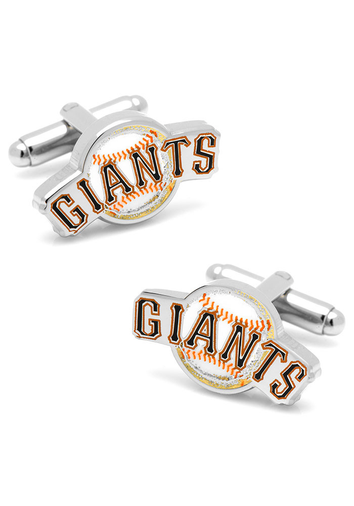 San Francisco Giants Silver Plated Mens Cufflinks - Image 1