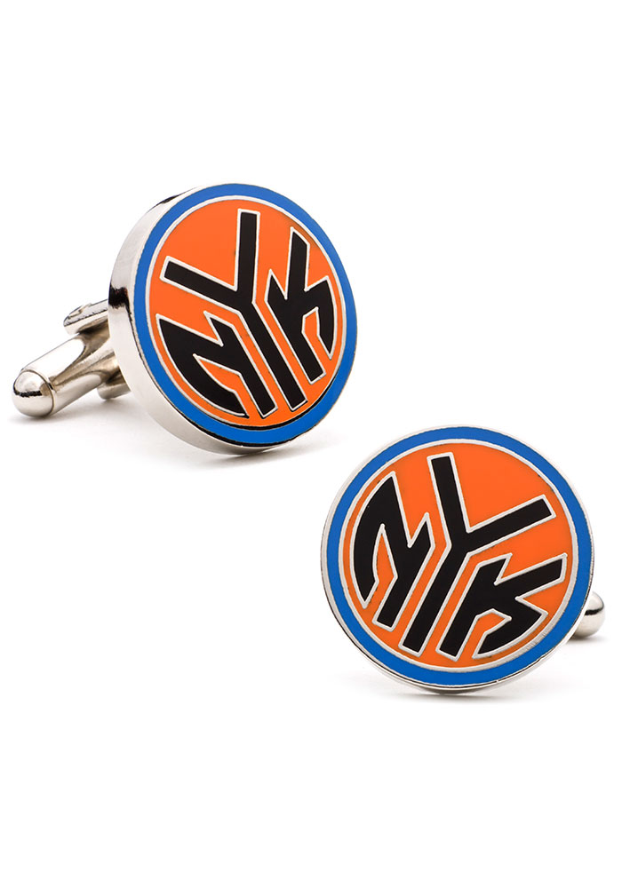 New York Knicks Silver Plated Mens Cufflinks - Image 1