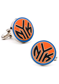 New York Knicks Silver Plated Cufflinks - Silver