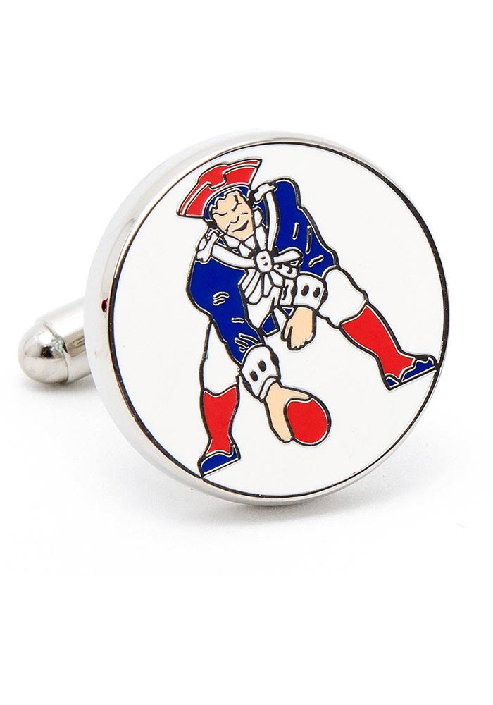 New England Patriots Silver Plated Mens Cufflinks - Image 1