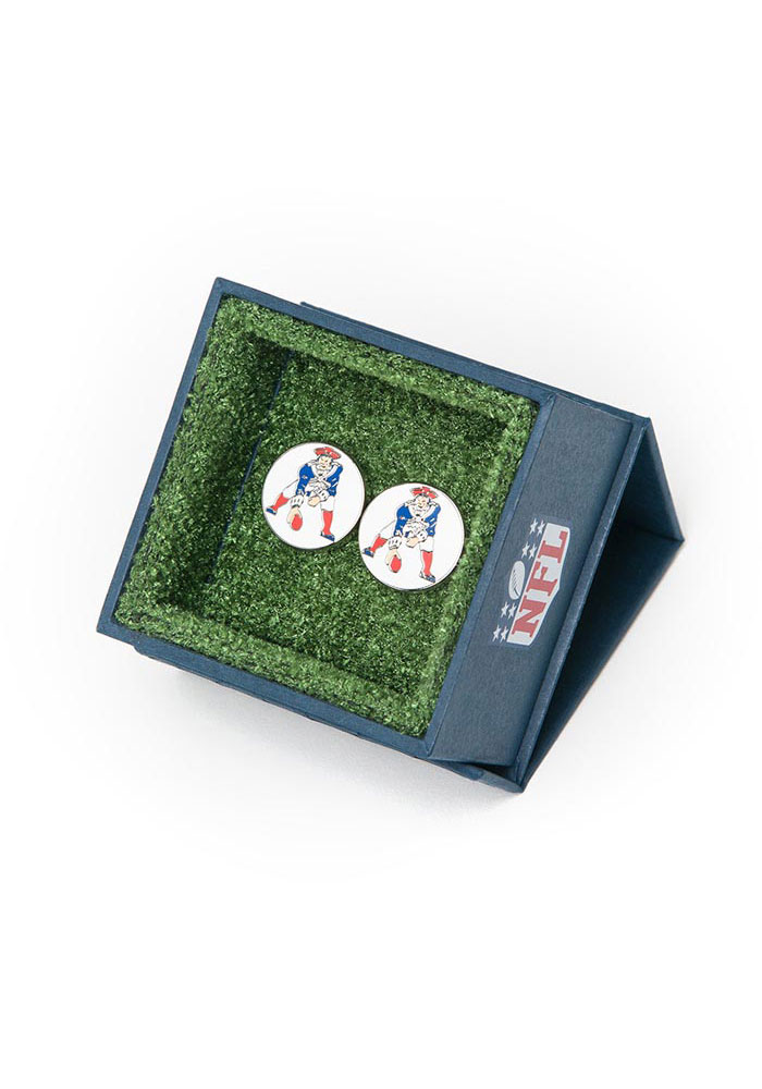 New England Patriots Silver Plated Mens Cufflinks - Image 3