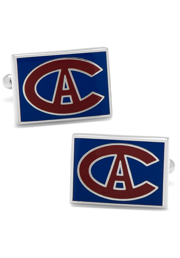 Montreal Canadiens Silver Plated Mens Cufflinks - Image 1