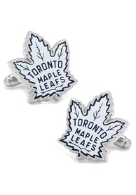 Toronto Maple Leafs Silver Plated Cufflinks - Silver