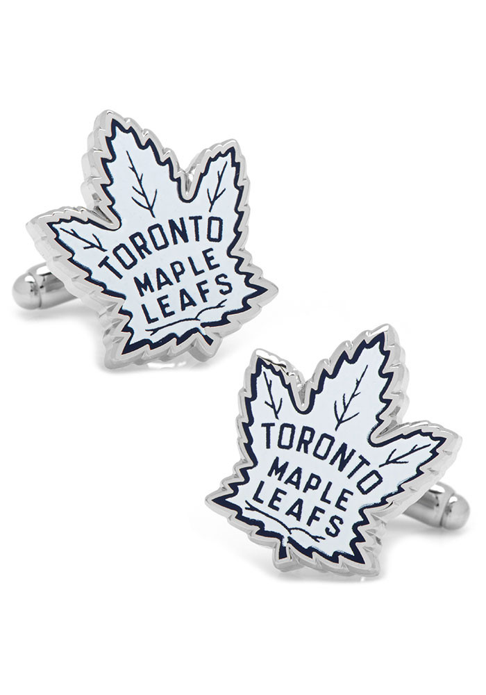 Toronto Maple Leafs Silver Plated Mens Cufflinks - Image 1
