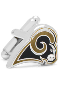 Los Angeles Rams Silver Plated Cufflinks - Silver
