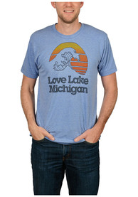 The Mitten State Michigan Light Blue Lake Michigan Short Sleeve T Shirt