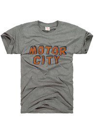 The Mitten State Detroit Grey Motor City Short Sleeve T Shirt