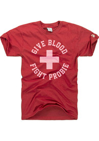 Bob Probert Detroit Red Wings The Mitten State Give Blood Probert T-Shirt - Red