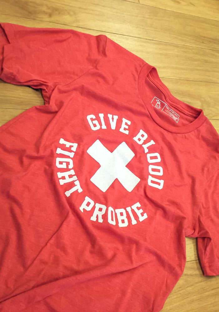Bob Probert Detroit Red Wings Red Give Blood Probert Short Sleeve Fashion Player T Shirt - Image 2