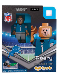 Detroit Lions Roary Mascot Generation 3 Collectible Player Oyo