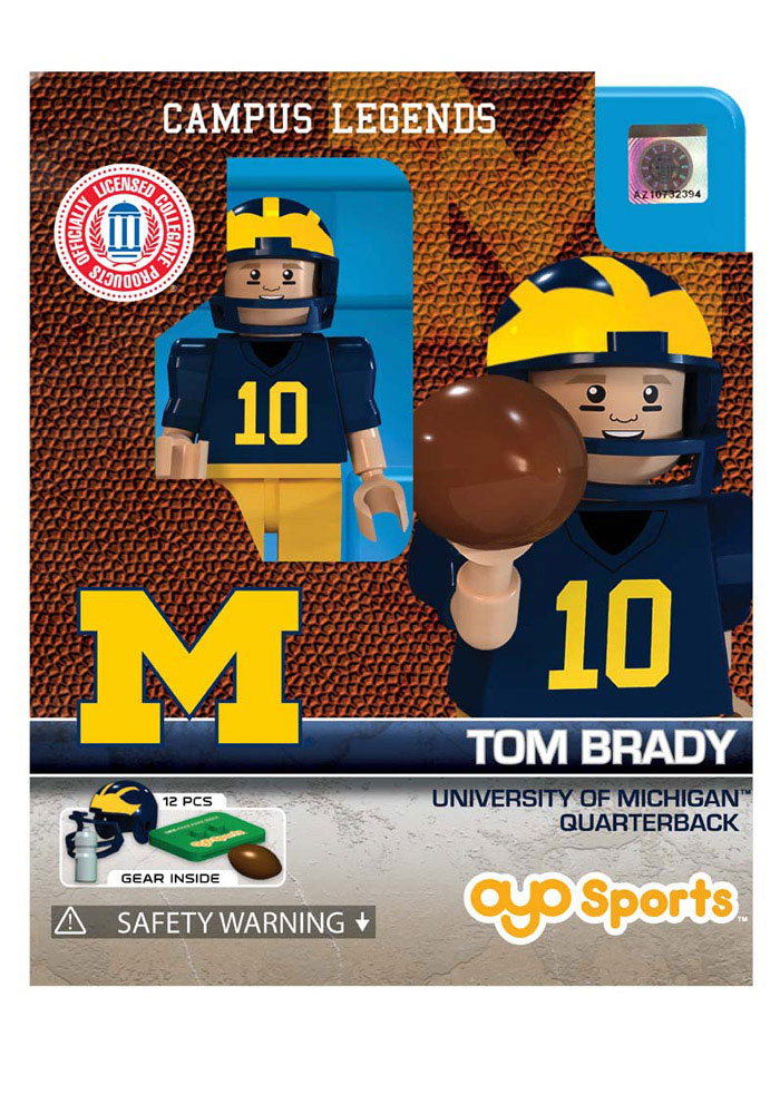 Michigan Wolverines Tom Brady Generation 1 Collectible Oyos Tom Brady 9500357