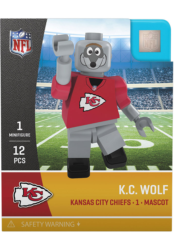 Kansas City Chiefs KC Wolf Mascot Generation 4 Collectible Player Oyo - Image 1