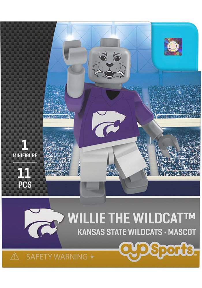 K-State Wildcats Willie the Wildcat Willie the Wildcat Generation 2 Collectible Player Oyo - Image 1