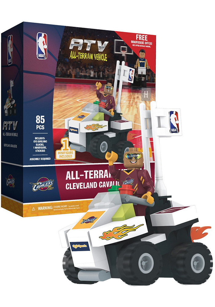Cleveland Cavaliers 4 wheel ATV with Super Fan Collectible Oyo Set - Image 1