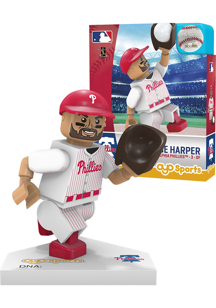 Philadelphia Phillies Bryce Harper Minifigure Collectible Player Oyo - Image 1