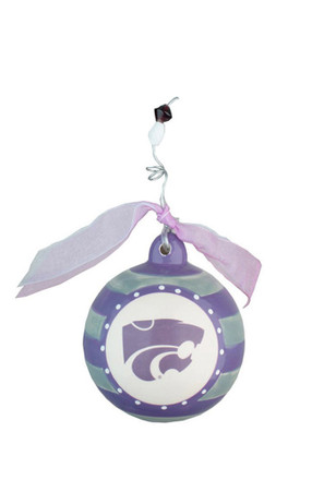 K-State Wildcats Striped Ornament