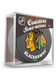 Chicago Blackhawks 4 Pack Puck Coaster