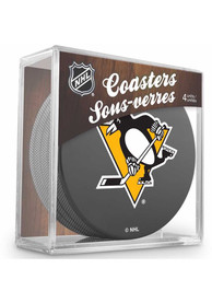 Pittsburgh Penguins 4 Pack Puck Coaster